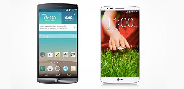 LG G3 ve LG G2 karsilastirma