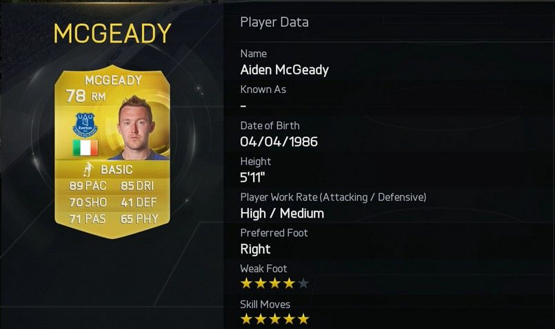 Aiden McGeady - Everton (England)