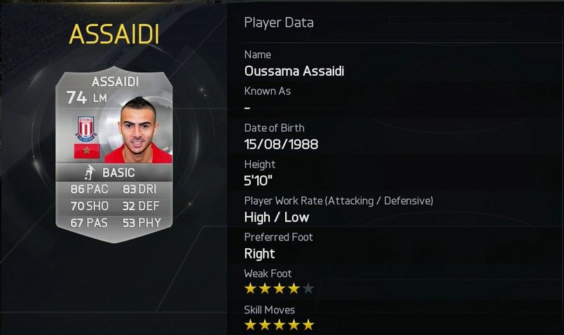 Oussama Assaidi - Stoke City (England)
