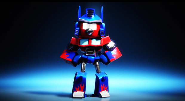 angry birds Red as Optimus Prime