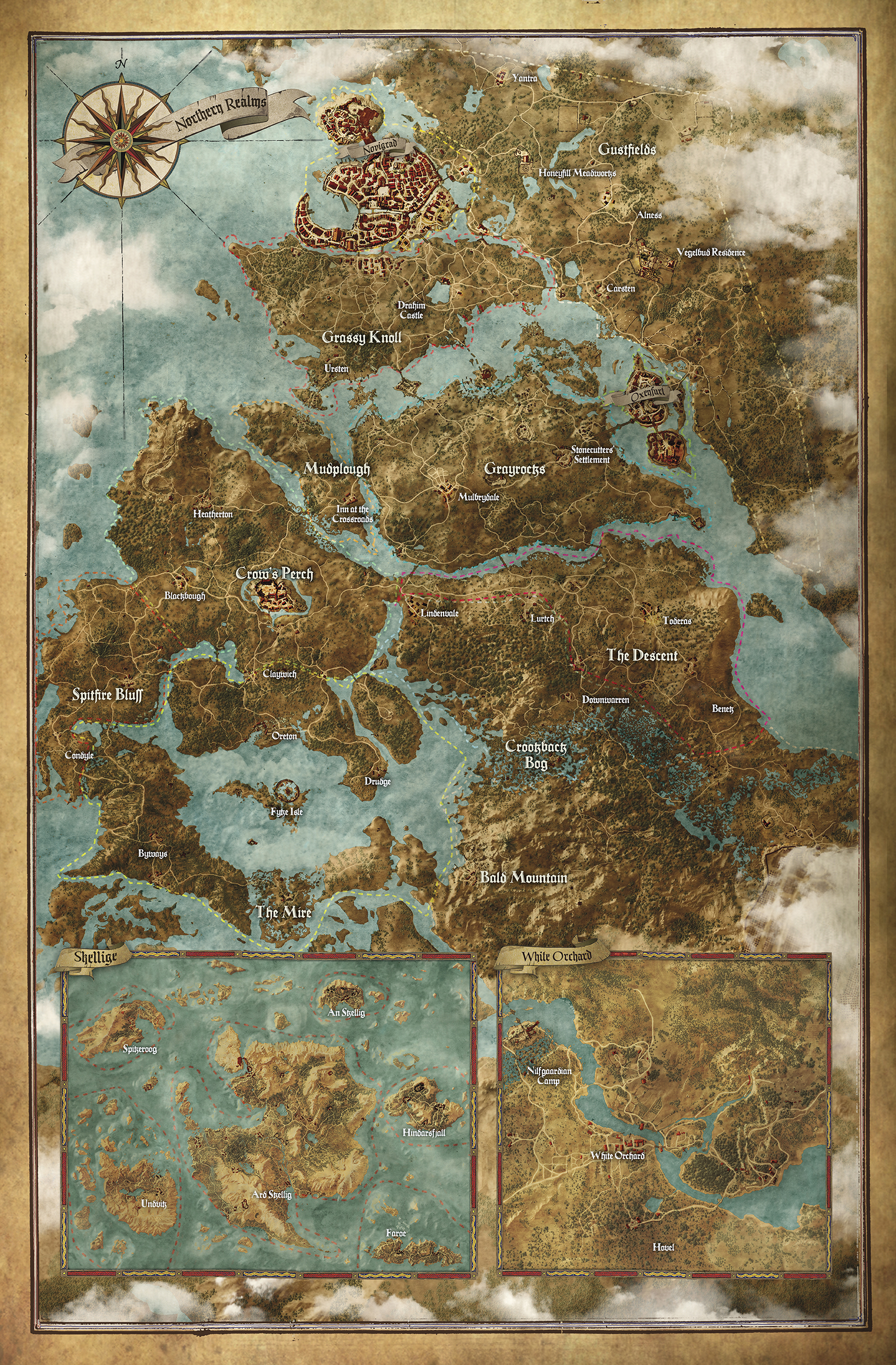The Witcher 3 map