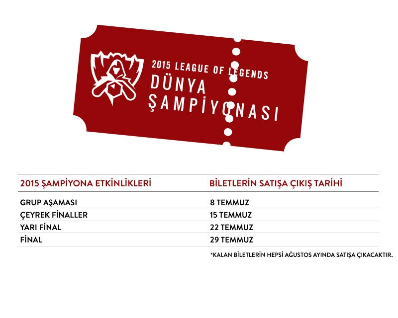 league of legends 2015 ticket