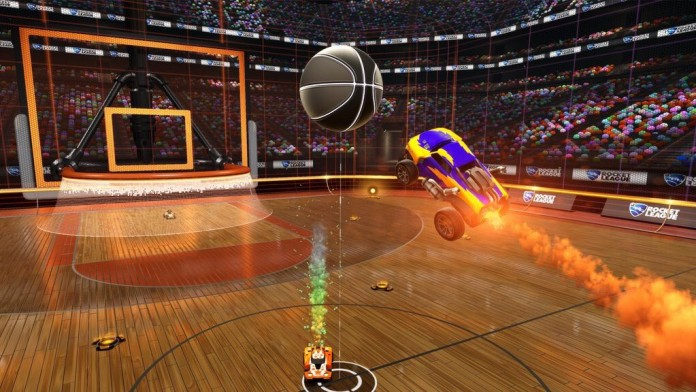 Rocket League basketball mode